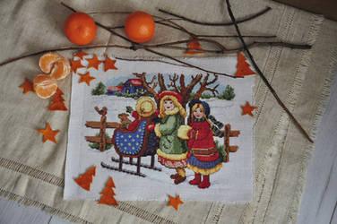 winter cross stitch by katelok
