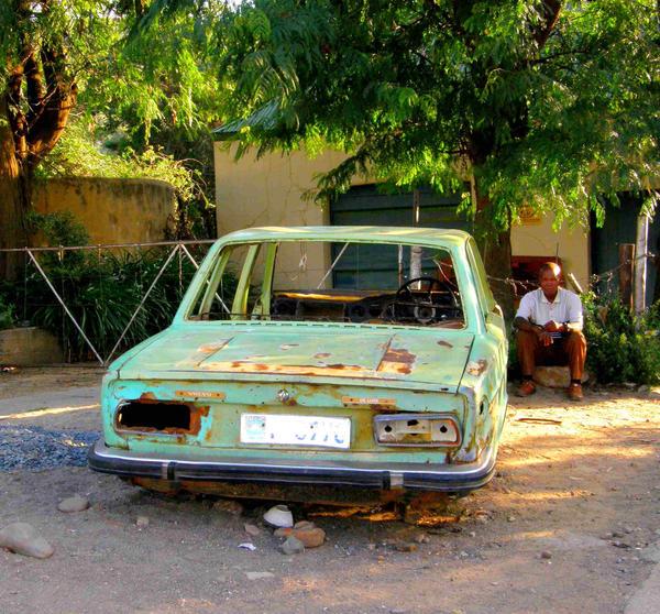 Broken Car Lesotho by Jenvanw