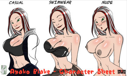 [NSFW Preview] Ayako Blake - Character Sheet by devinsaurusnext