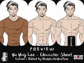 [NSFW Preview] Yu Ying Lee - Character Sheet by devinsaurusnext