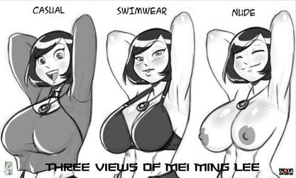 [NSFW Preview] Three Views of Mei Lee by devinsaurusnext