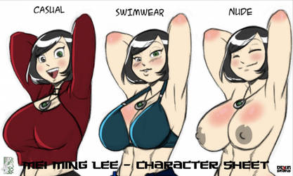 [NSFW Preview] Mei Ming Lee - Character Sheet by devinsaurusnext