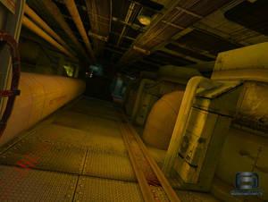 Sunken Submarine interior
