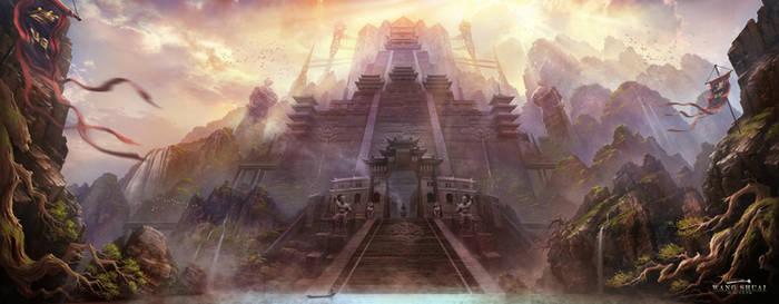 XIAO AO JIAN GHU Game scene illustration by white70WS