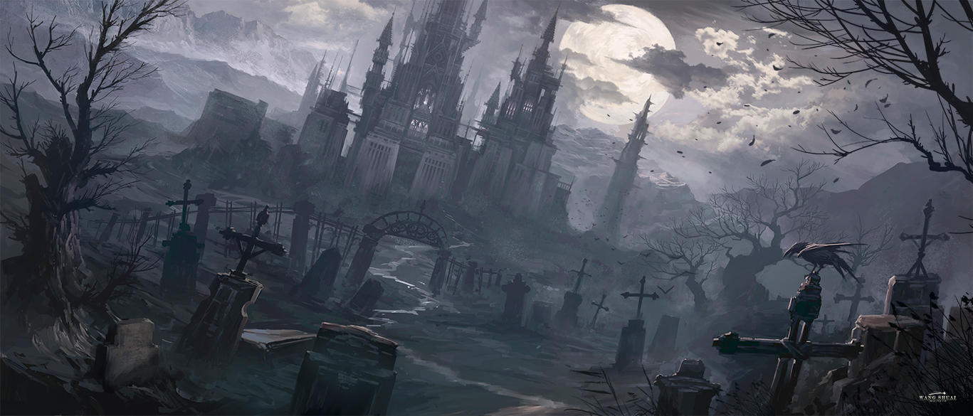 The cemetery by white70WS
