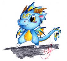Chibi Dragon Buddie Color by piratedragon0402
