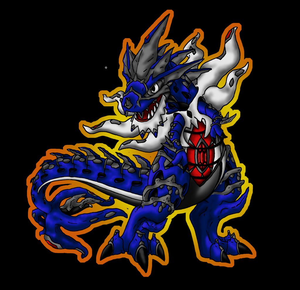Shiny Mega Tyrantitar Tyrantrum Color By Piratedragon0402 On