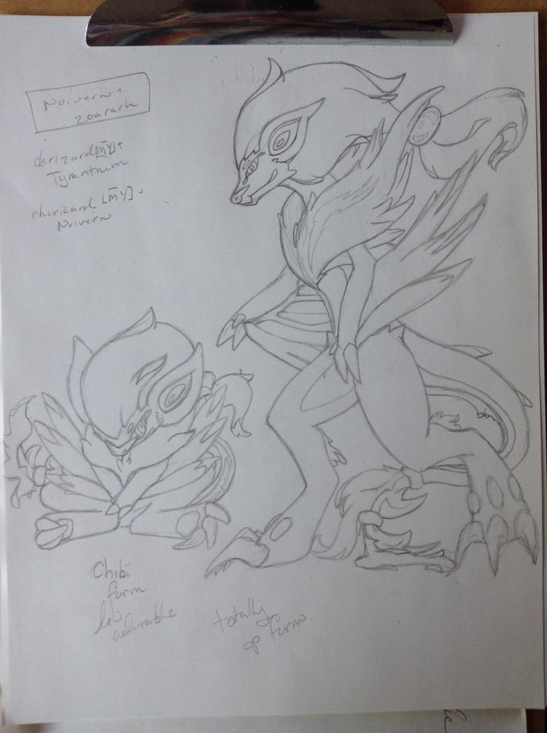 Zoroark noivern fusion by piratedragon0402