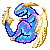 Dragon Blue Yellow 50x50 by piratedragon0402