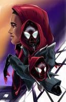 Miles Morales-Spiderman by Sargiel