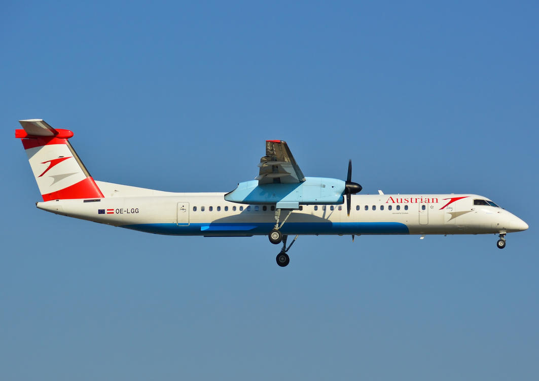 OE-LGG - De Havilland Canada DHC-8-402Q - Austrian by mysterious-one