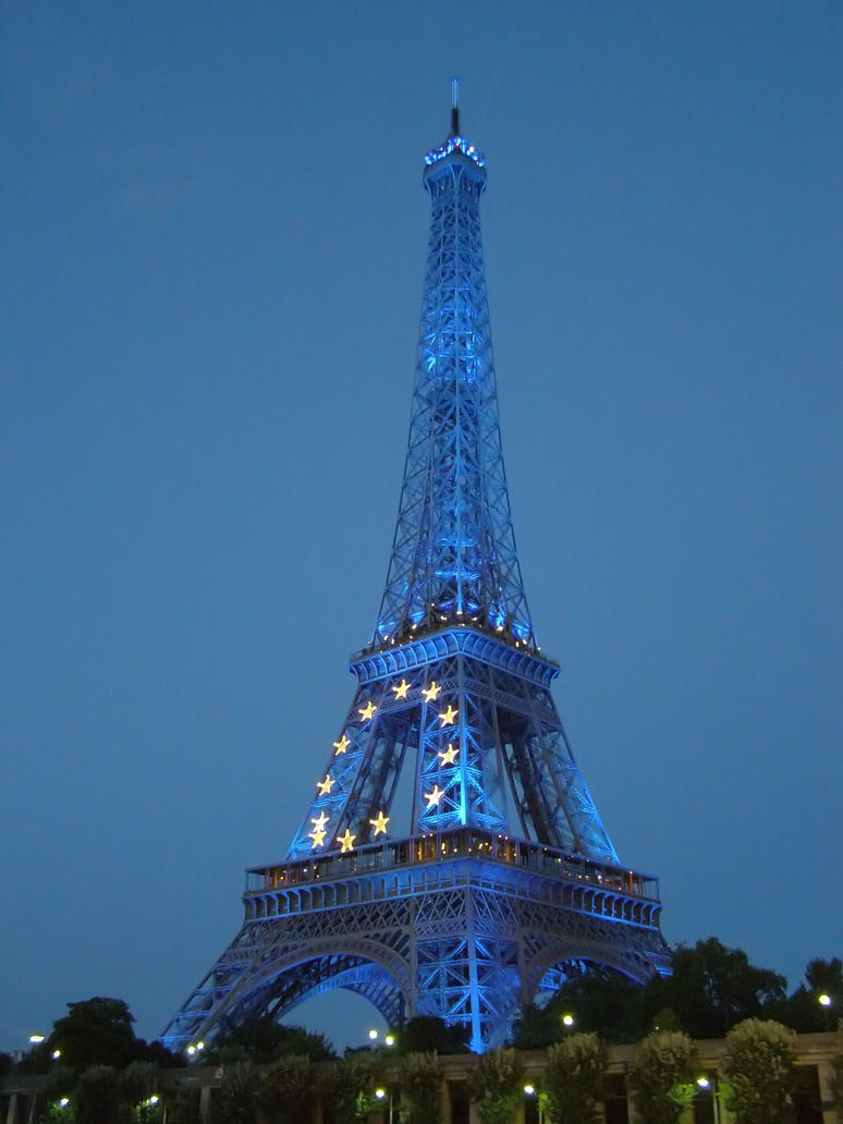 Blue tower, Eiffel Tower by mysterious-one