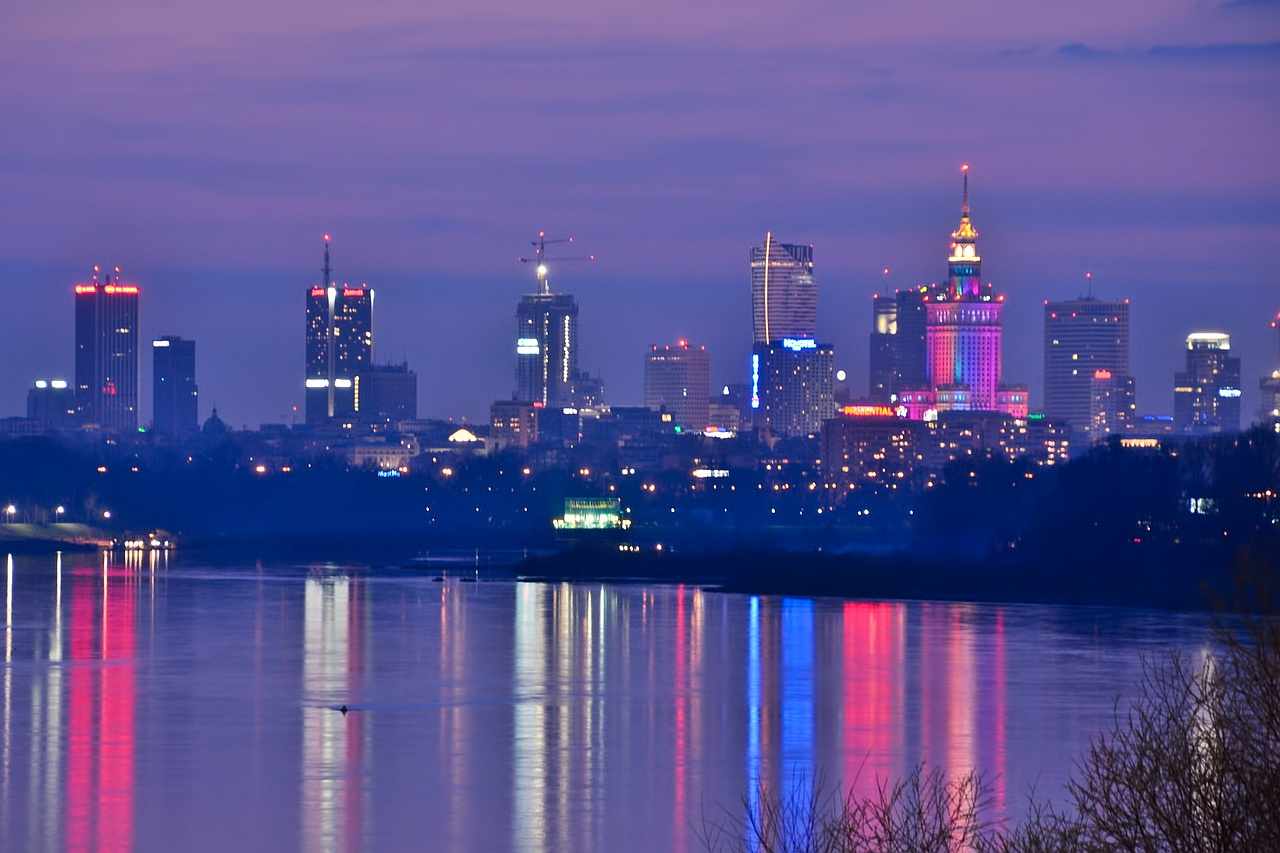 Shining Warsaw Downtown by mysterious-one