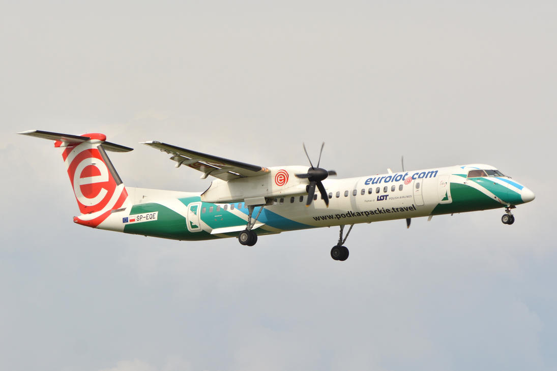 SP-EQE - Bombardier DHC-8-402Q Dash 8 - Eurolot by mysterious-one