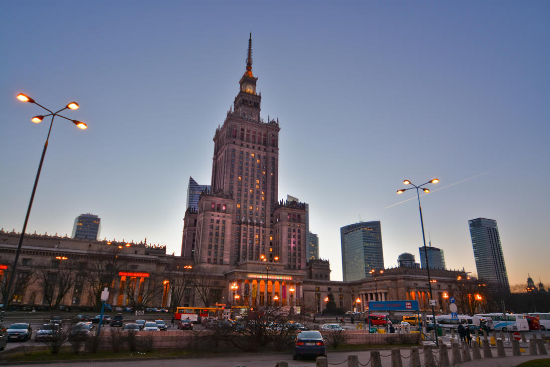 Palace of Culture and Science in Warsaw by mysterious-one