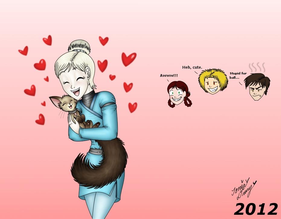 K2 - Marina and Chika hug = cute by MaskedSugarGirl