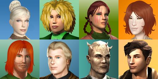 K2 - EXILES + Love Interests in-game Portraits by MaskedSugarGirl