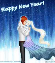 2018-2019-New Years-Ammon and Marina redraw by MaskedSugarGirl
