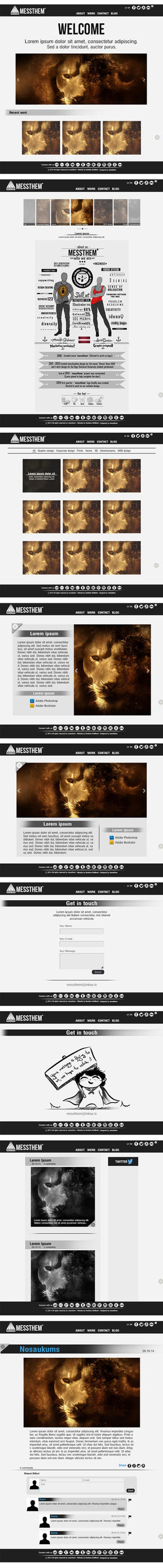 Messthem web page design by messthem