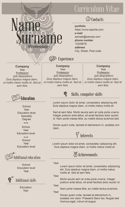 CV Template by messthem