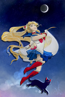Fly Me to the Moon - Sailor Moon Crystal by Anante