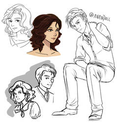Sketches - Cain and Adley by Anante