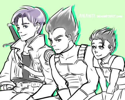 Father and Teacher - Trunks, Vegeta and Cabba
