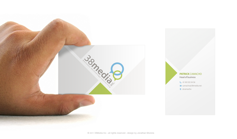 38media business card by jonaska