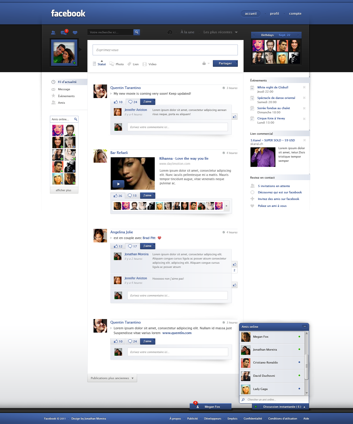Facebook Redesign by jonaska