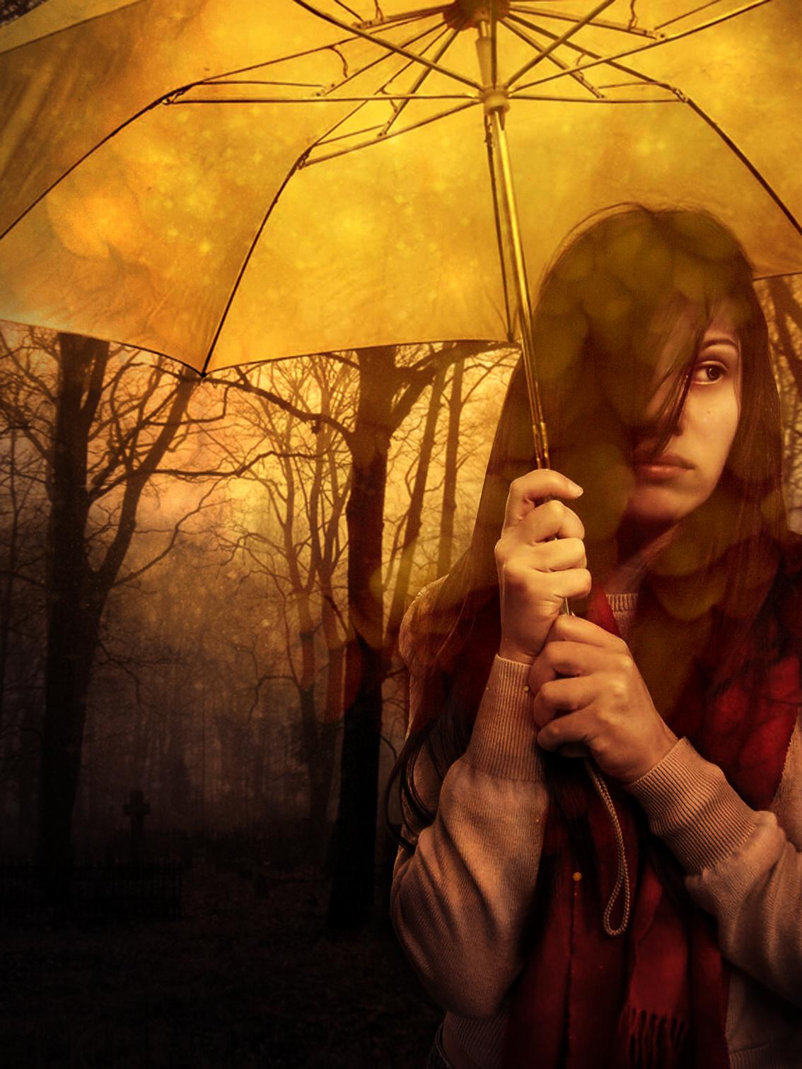 Under_my_Golden_Umbrella by EdgeOfDarkness