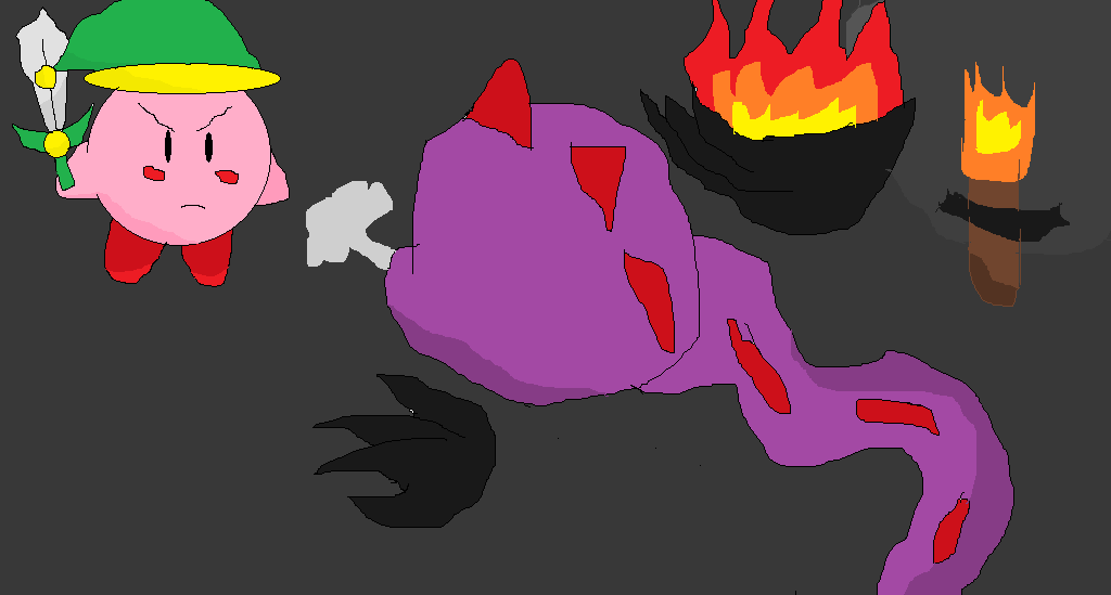 Kirby vs Dragon by RichardtheDarkBoy29