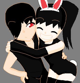 Rachel the Bunny and Richard the cute emo. by RichardtheDarkBoy29