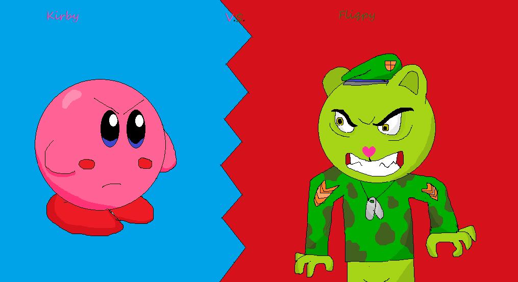 Kirby vs Fliqpy by RichardtheDarkBoy29