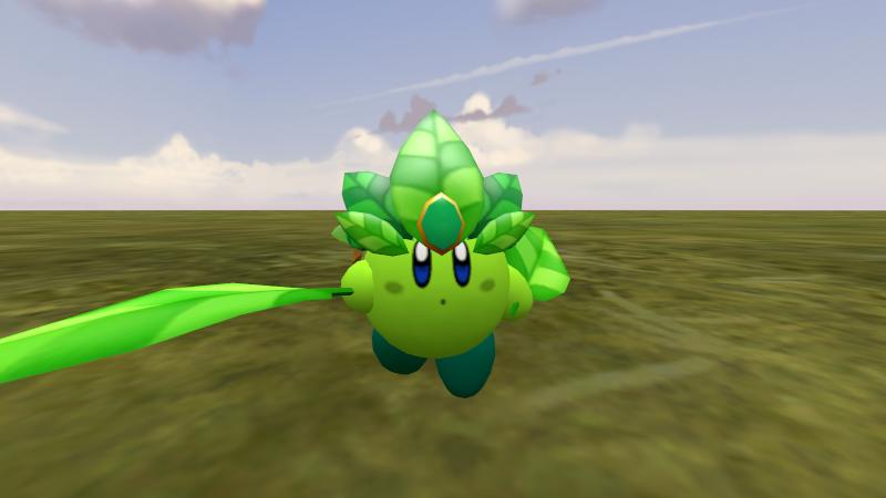 Leaf Kirby by RichardtheDarkBoy29