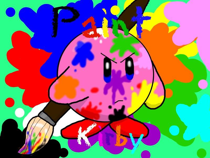 Paint Kirby by RichardtheDarkBoy29
