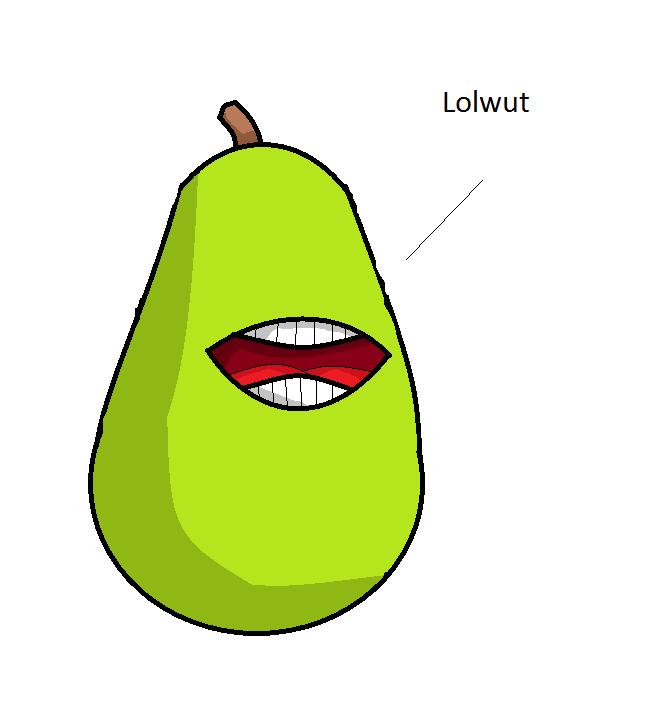 Biting Pear by RichardtheDarkBoy29