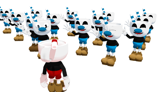 And his Pal Mugman by RichardtheDarkBoy29