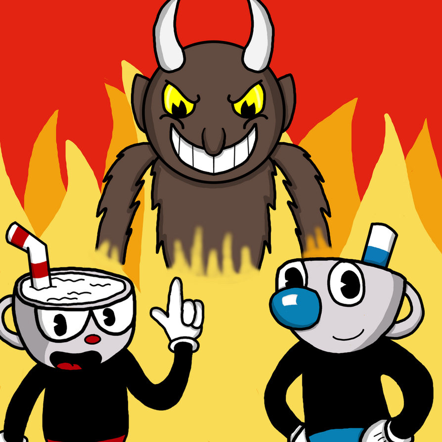 Cuphead and Mugman in Don't Deal with the Devil by RichardtheDarkBoy29