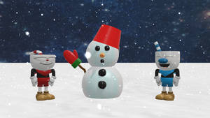 Cuphead and Mugman (Feat. Snowman-kun) by RichardtheDarkBoy29