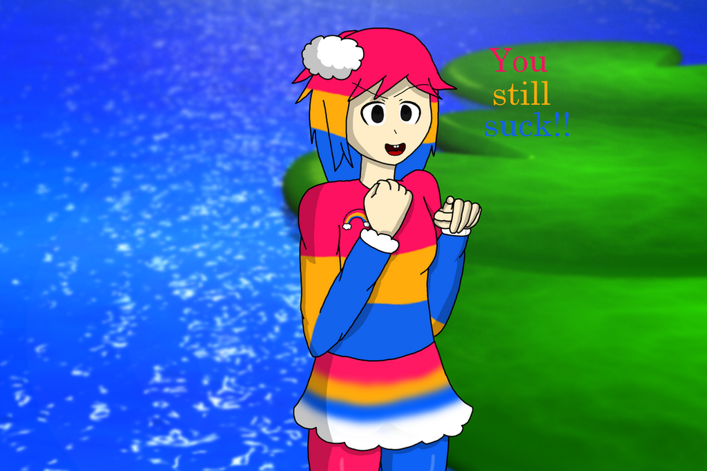 Chica's Magic Rainbow humanized by RichardtheDarkBoy29