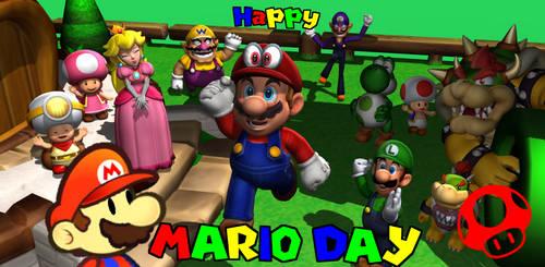 Happy Mario Day by RichardtheDarkBoy29