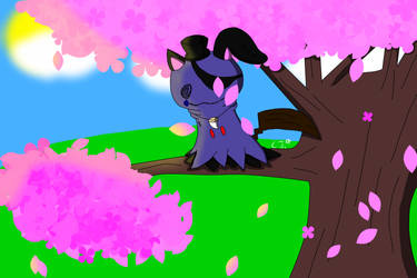 Shade in a sakura tree by RichardtheDarkBoy29