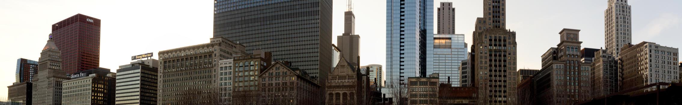 Chicago Skyline Panorama by NeoEonUmbraShadow