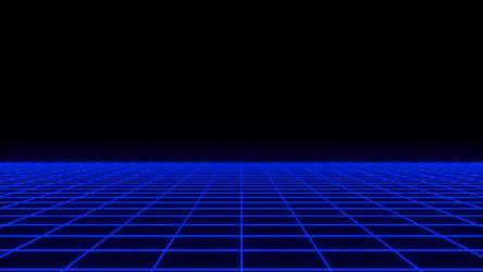 80's Neon Grid (Blender) by santirevecolepe