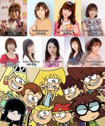 Loud Sisters Love Nine Japanese Female Seiyuus by santirevecolepe