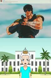 Kenshiro vs. Bart-Toons by santirevecolepe