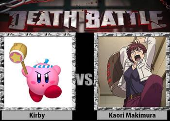 Death Battle - Kirby vs. Kaori Makimura by santirevecolepe