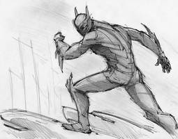 Batman Beyond sketching by RobtheDoodler