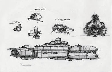 Starship Concept by RobtheDoodler