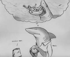Shark Week Fantasies by RobtheDoodler
